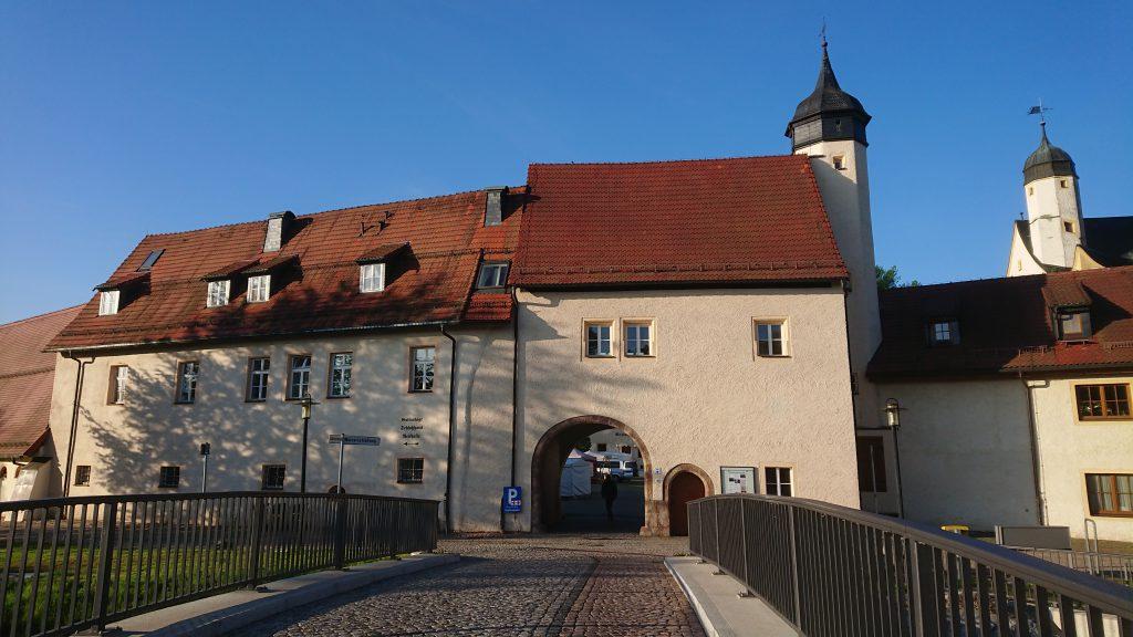Start am Wasserschloss Klaffenbach, 7h morgens