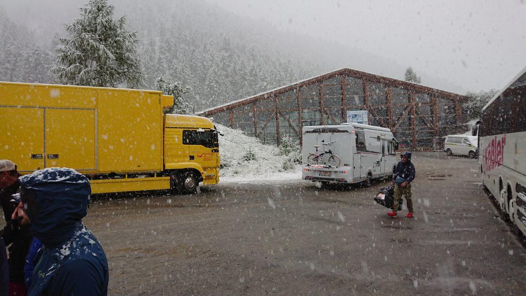 Transalpine Run 2019 - Schnee in Sulden am Abreisetag
