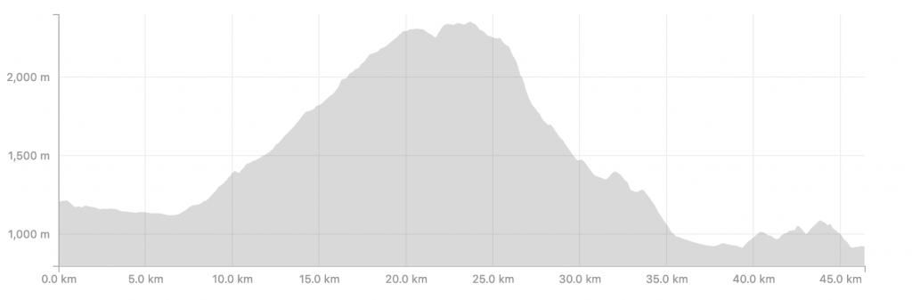 Transalpine Run 2019 - Streckenprofil Tag 7 (c) strava.com