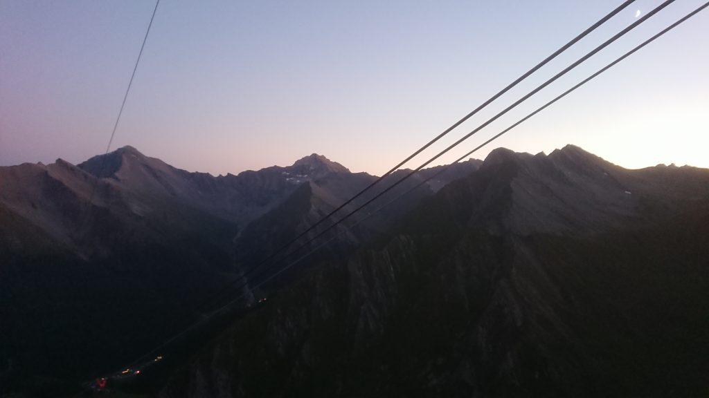 Transalpine Run 2019 - mit der Gondel zurück nach Samnaun