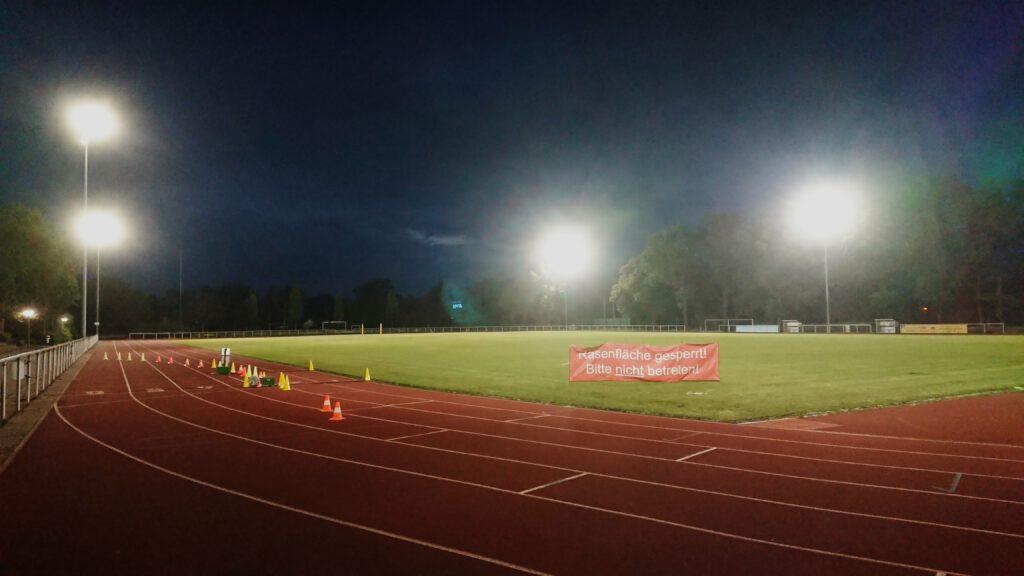 Start und Ziel des Berliner Vollmond-Marathon - das Sport Centrum Siemensstadt