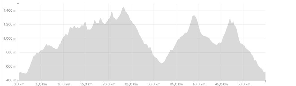 Höhenprofil des Ultra Trail Lamer Winkel 2021 (c) strava.com